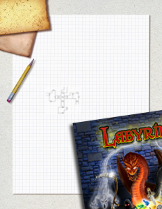 pencil, graph paper and game book