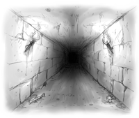 Illustration of an underground tunnel