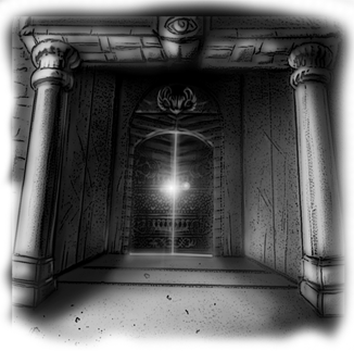 spooky labyrinth door